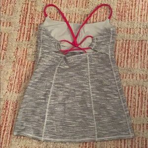 lululemon athletica Tops - Gray with pink LULULEMON Tank Top Size 8